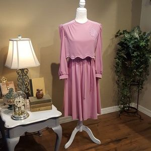 Vintage - Cathy Sue Dusty Rose Dress